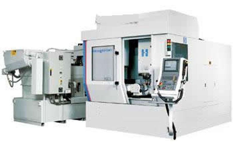 Figure 3 The machine tool is used in combination with a dedicated cooling system (the system is located on the left side of the machine tool), which can transport the high-pressure and high-flow coolant required by the creep feed grinding process.